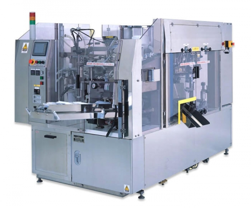 Automatic Bag Filling And Sealing Machine For Gusset Pouch With Zipper